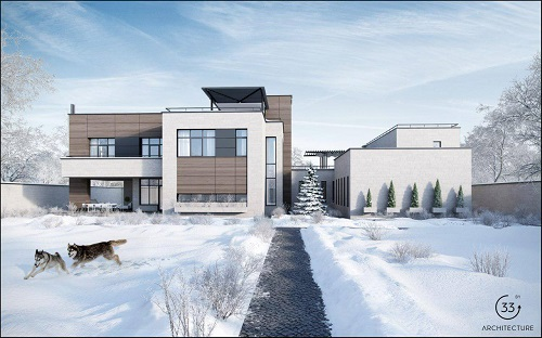 cottage winter 33by architecture by ivan yunakov architecture rh 33by pro Winter Trees Winter Forest