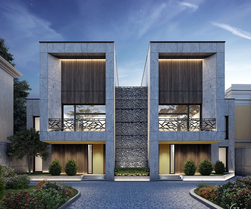 Twin house 33by architecture by ivan yunakov for Twin home plans